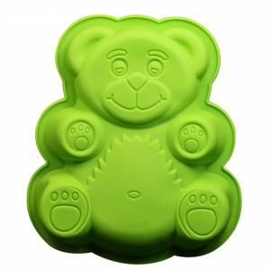 Cute Bear shaped cake mould bakeware silicone mold
