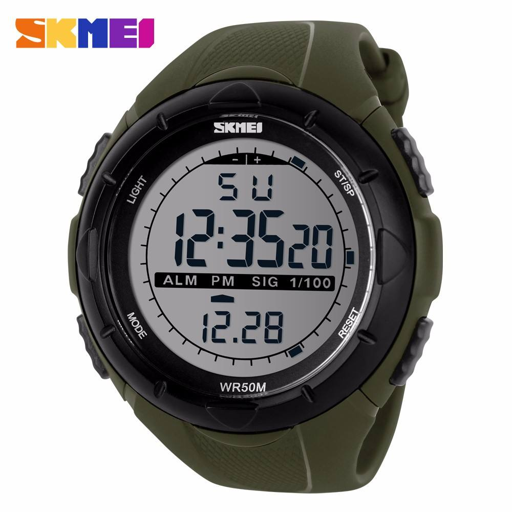 SKMEI 1025 Wholesale Men Digital Sports Watches LED Outdoor Dress Wristwatches Military Watch 50M Water Resistant