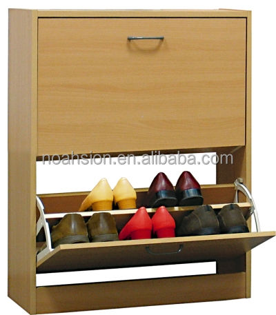 2 doors wooden shoe cabinet for living room