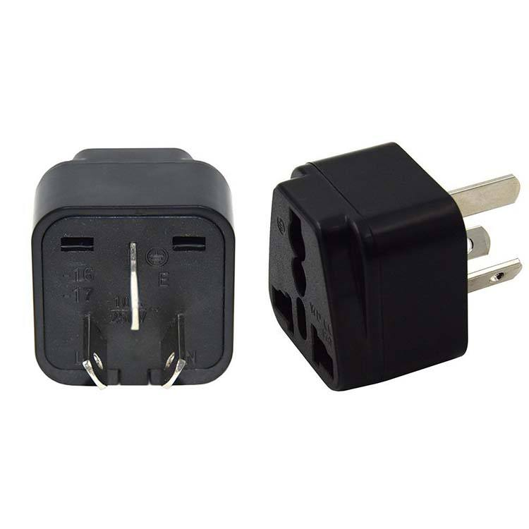Grounded Universal World Travel Plug Adapter EUA para a Austrália/China
