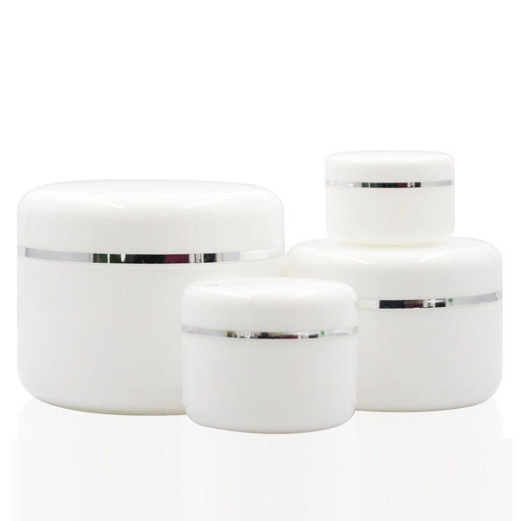 IBELONG hot sale 20g 50g 100g 250g empty white plastic cosmetic jar for cream
