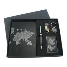 promotional custom logo business card holder and pen gift set items for corporate gift , wholesale gift items