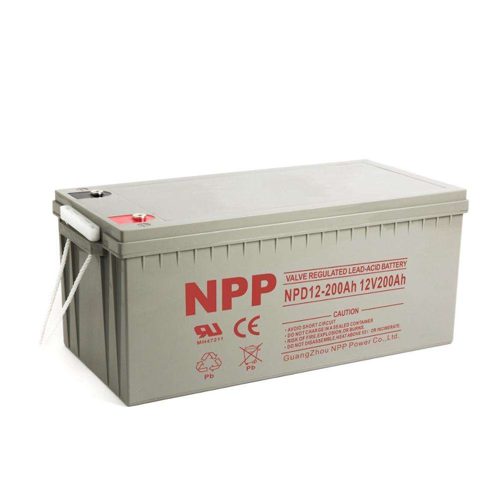 NPP storage battery 12V 200AH deep cycle battery China manufacturer for agm battery factory