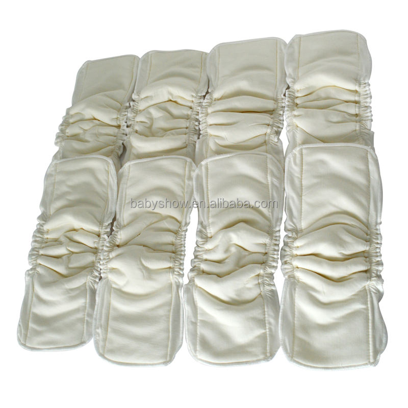 cloth diaper nappies bamboo cotton reusable insert liner wholesale in china leak guard diaper insert with leg gusset