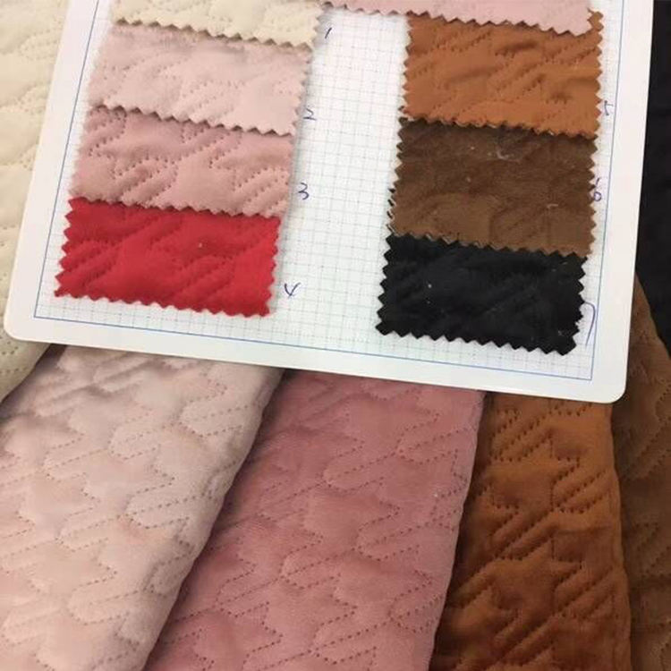 2019 New Style Quilting Velvet Fabric For Winter Coat