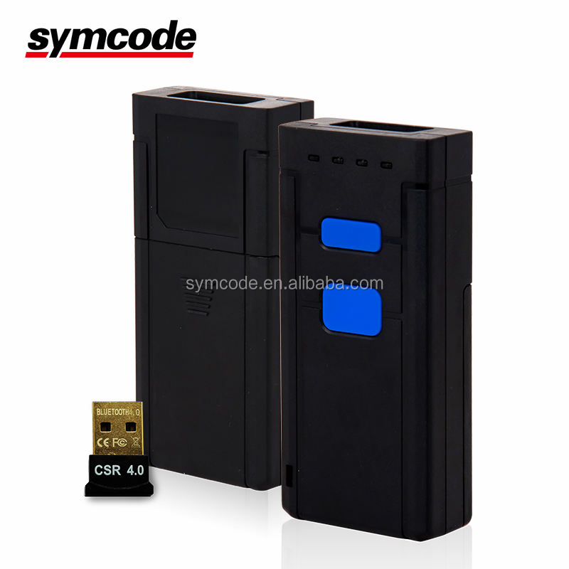Lettore di codici a barre Symcode MJ-2877 2D bar code scanner con Bluetooth ricevitore compatibile Android IOS Tablet PC