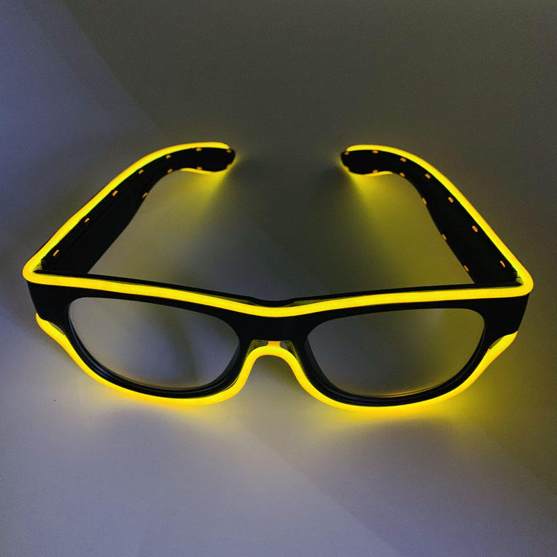 2019 New patented wireless USB Neon LED Light Up glasses Frame Dance Party Nightclub event EL Wire glowing Glasses