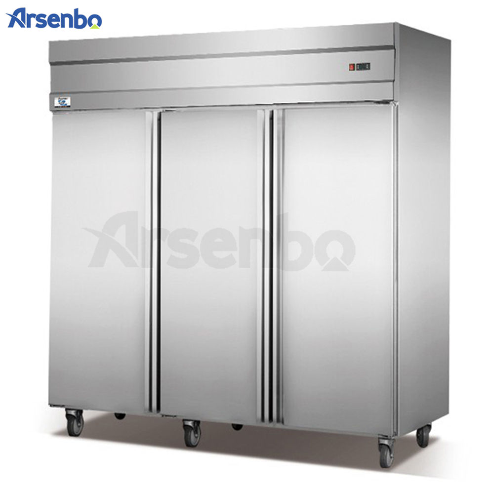 Commercial Removable Three Doors Double Temperature Fan Cooling Upright Restaurant Equipment Kitchen Refrigerator Fridge Freezer