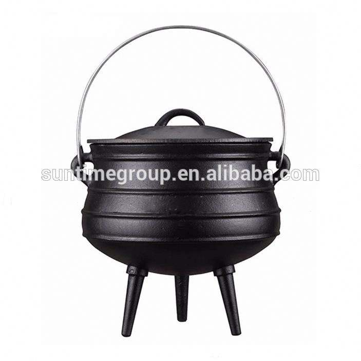 2# Factory Price Cast Iron Potjie Pots South Africa Potjie Pot Cast Iron Cookware