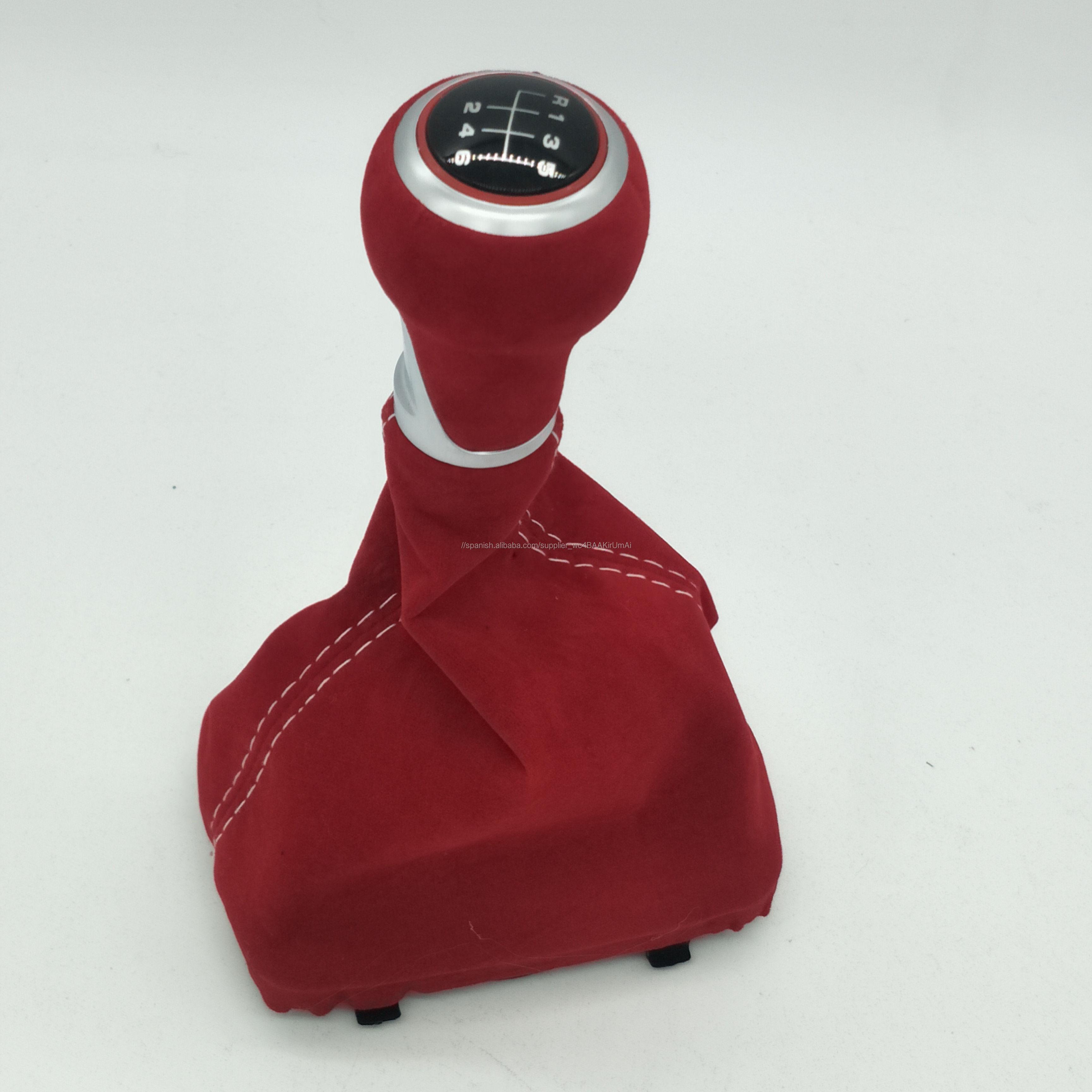 5/6 velocidad de cambio de engranaje de mando de polaina de ante rojo cubierta de arranque para Audi A3 S3 2001-2003