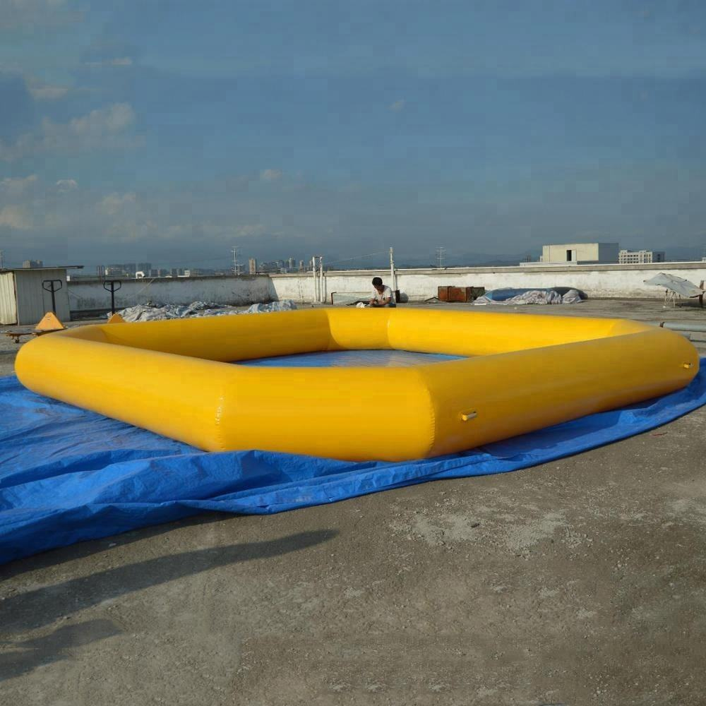 Summer Hot Water Play Equipment High Quality 0.9mm PVC Tarpauln Inflatable Water Pool