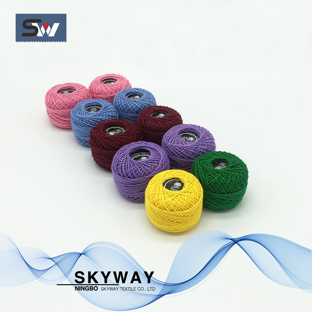Crochet cotton cone thread for embroidery 9s/2