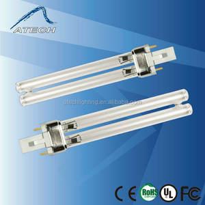 pls 5w 7w 9w 11w 13w bor oder quarzglas 254nm uvc entkeimungslampe für die sterilisierung