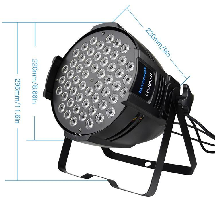 Big Dipper LPC007-H Par Stage 54X3W RGB 3IN1 DMX LED Stage Lighting, DJ Disco Party Stage Led Light