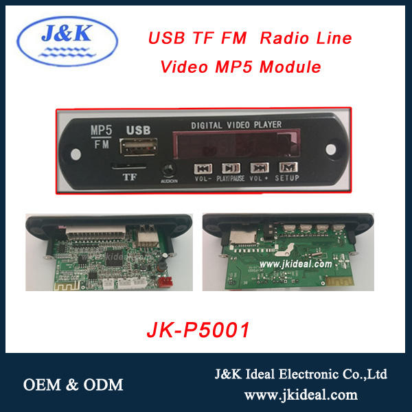 JK-P5001 OEM audio video MP3/MP4/MP5 elektronik papan sirkuit