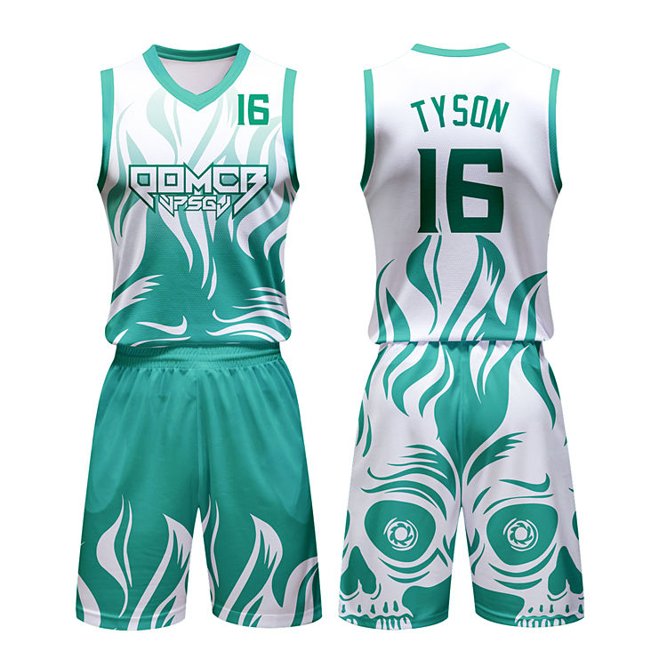 Maillot de basket-ball à double maille, uniforme de conception indienne, réversible