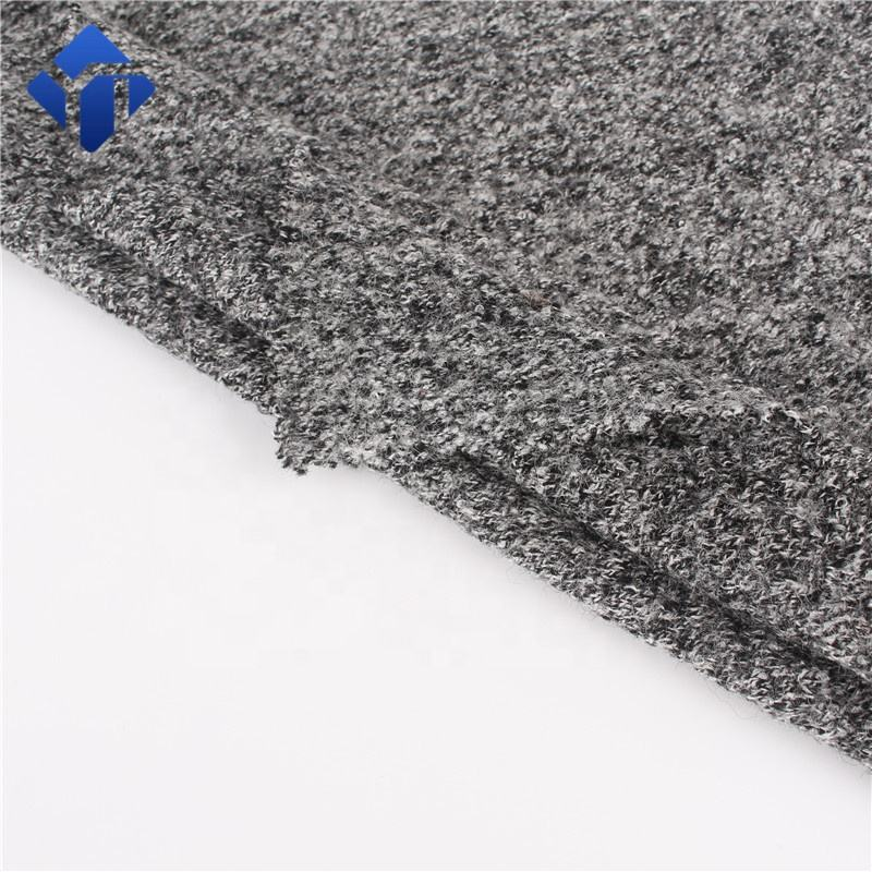 Hot sale woolen viscose blend boiled knitted wool fabric for coat
