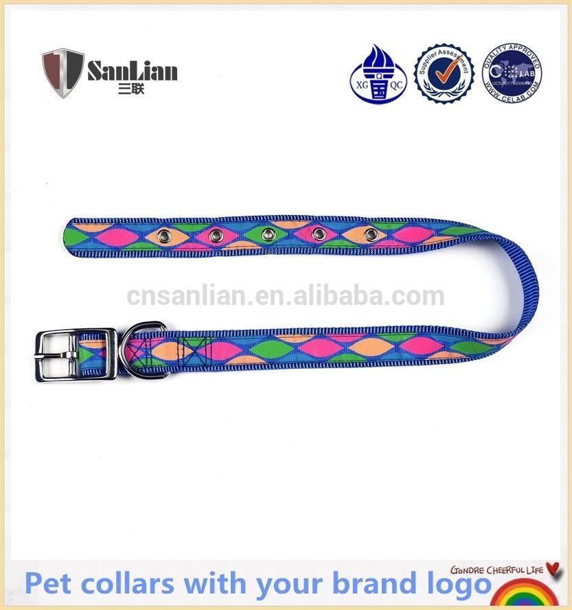 especiais personalizados para animais de estimação colarinho com o logotipo da marca