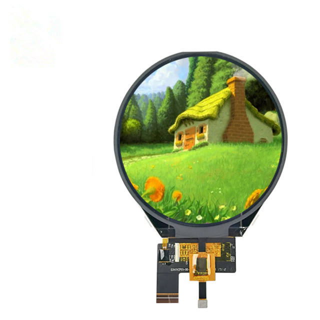 3.4 inch round tft screen mipi dsi interface micro lcd display with hdmi to mipi driver board