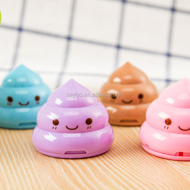 Funny cute double hole poo plastic pencil sharpener