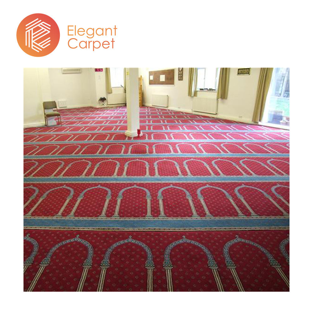 100%polypropylene outdoor mosque wilton carpet roll with factory price