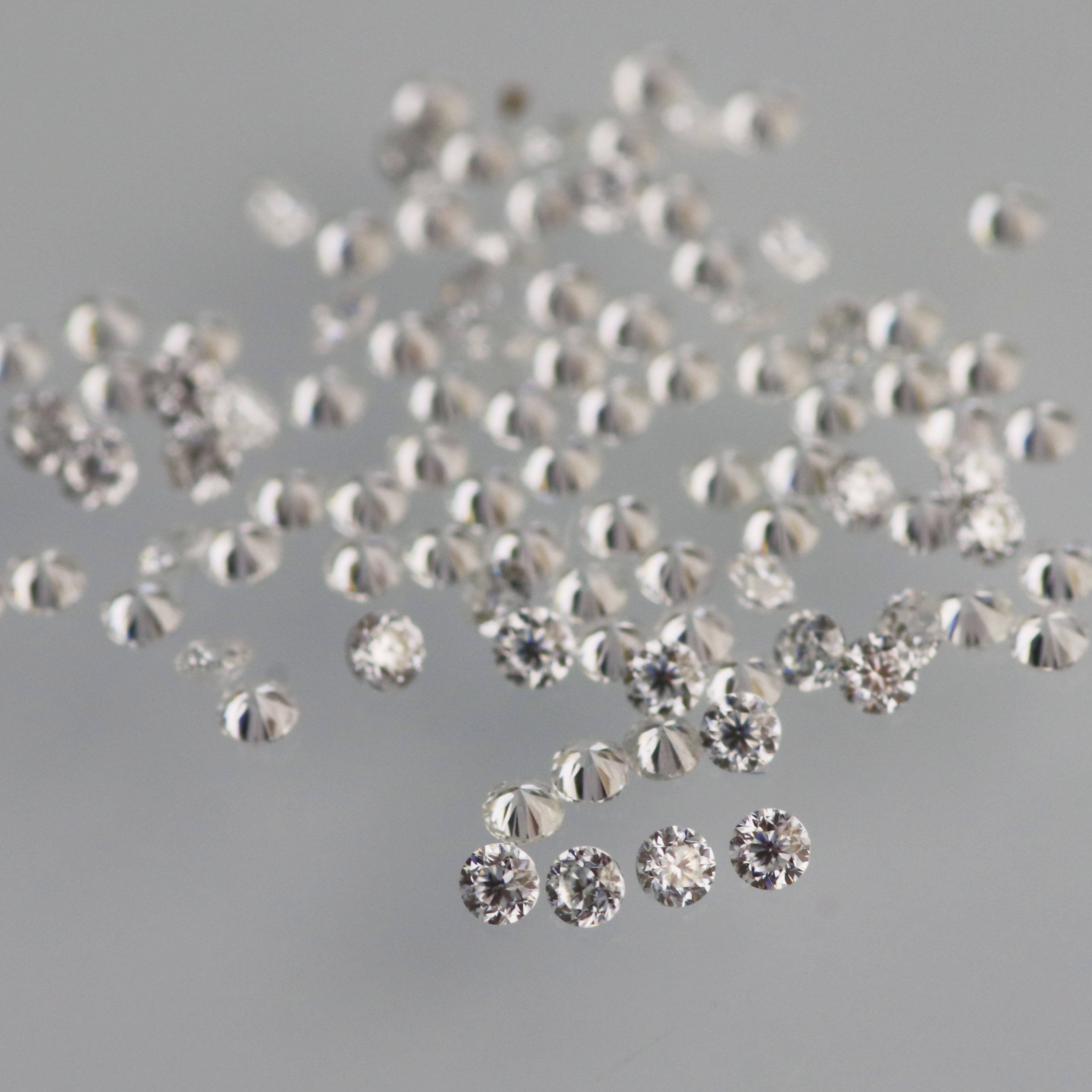 1mm 1.2mm 1.3mm 1.4mm 1.5mm 2mm 3mm DEF VVS round shape moissanite stone