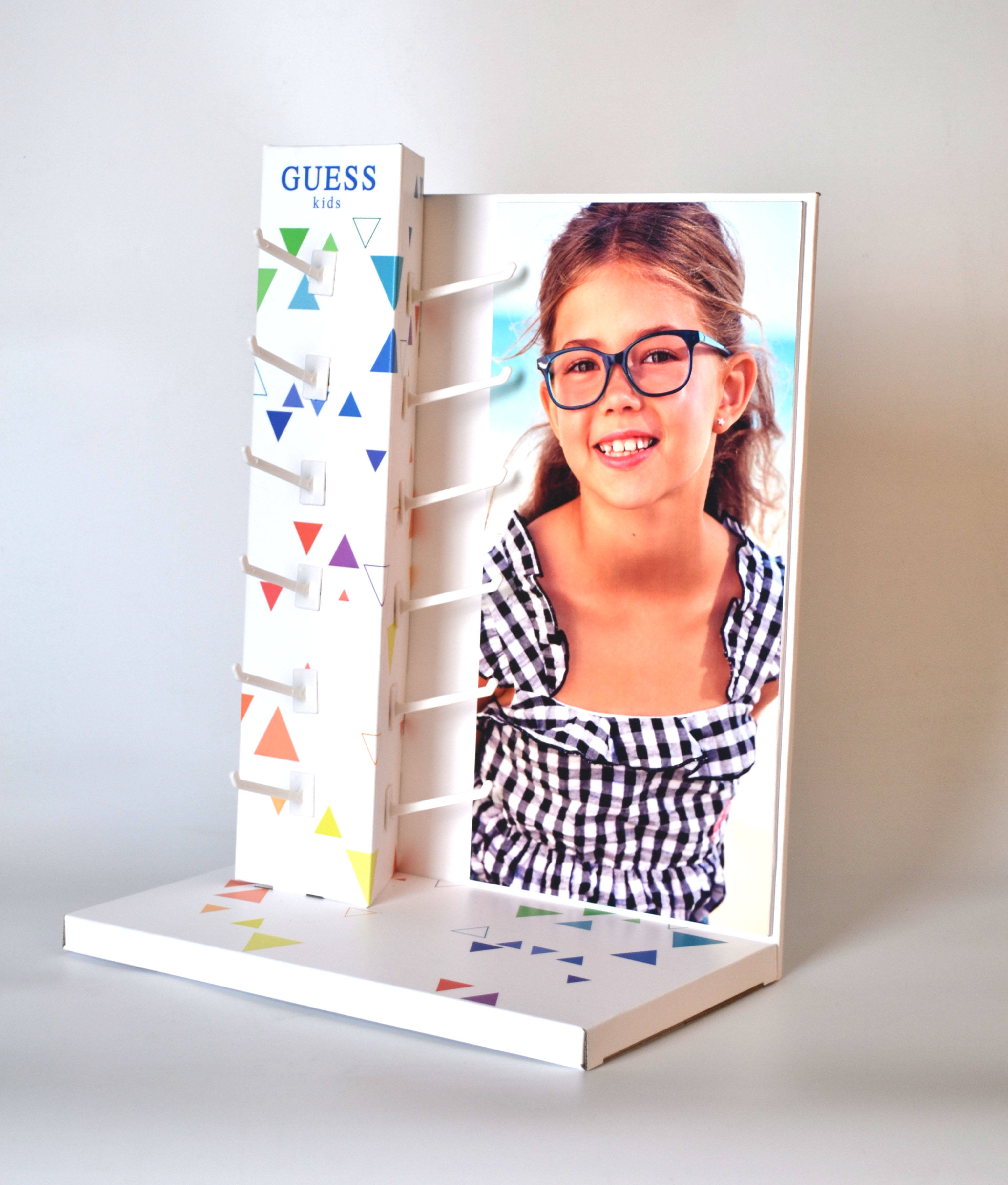 Customized cardboard floor display stands with hooks for toys/kid's articles/mobile accessories/cosmetics