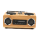 Portable beautiful design bamboo usb SD card wireless usb bluetooth speaker with fm radio