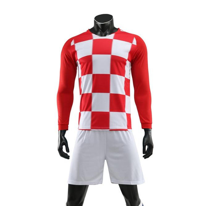 Wholesale Hot Long Sleeve Club Soccer Uniform Set Training Soccer Jersey Shirts For Team Soccer+wear Football Jersey
