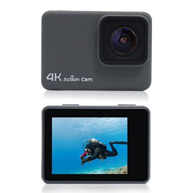 Waterproof Diving Action Camera 4K Wifi , Lcd Display Action Cam For Car, Wifi Mini Camera 1080P