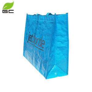 Big Export Shopping Tarpaulin PP Woven Tote Bag With Full Print