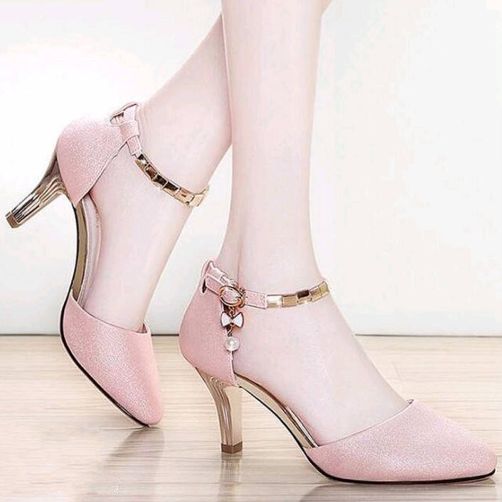 New style ladies western fancy shoes elegant design sexy high heels pointed toe shoes
