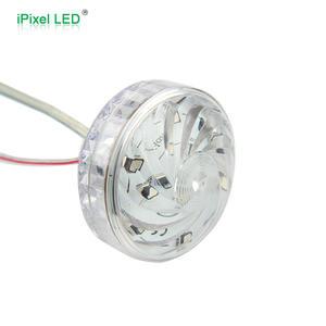 Cabochon LED RGB Venta caliente precio cambio automático 55mm Turbo led pixel luz 14 LEDs AC24v