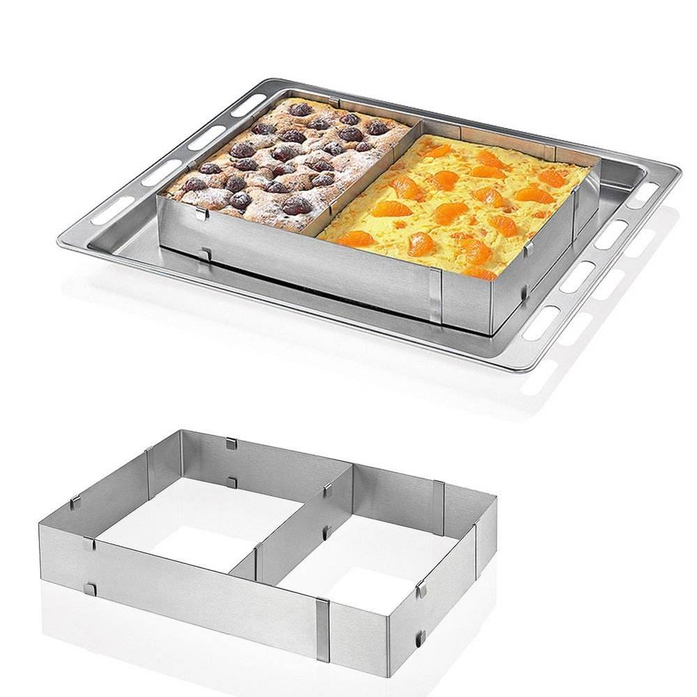 Stainless Steel Rectangular Baking Mold Frame Mousse Cake Ring