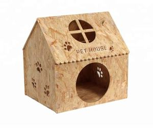 Collapsible Folding KD Wooden Dog Cat Pet House For Small Animals