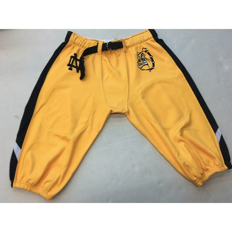 High quality stretch fit durable custom sublimated youth american football team wear pants