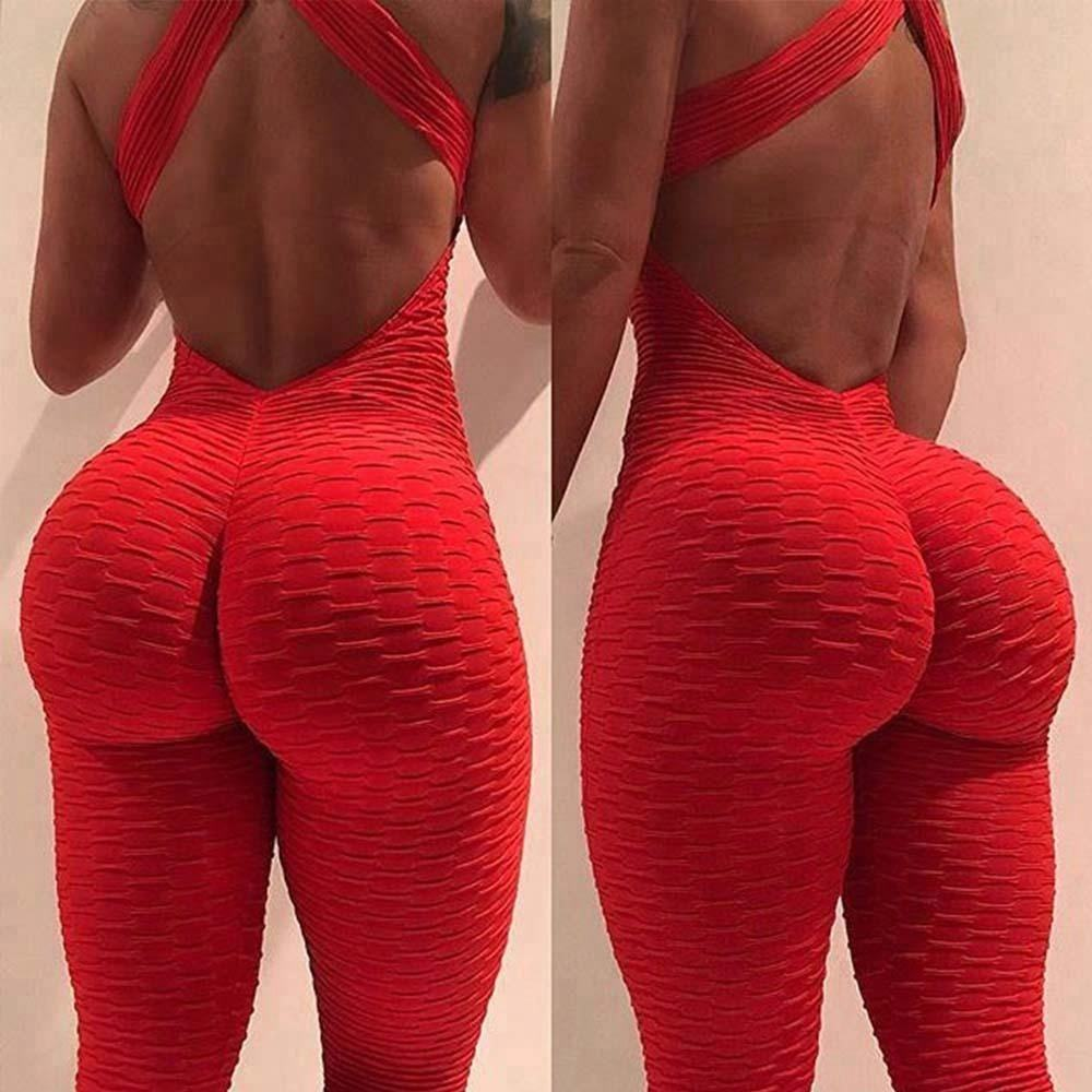 Women's Butt Lift Leggings Sports Yoga Jumpsuits Stretchy Workout Leggings