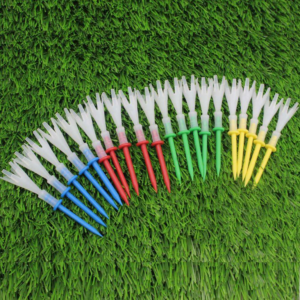 2019s hot selling 3-1/4 Inches (83mm) Golf Tees golf plastic tee Multi Color Plastic Prong Golf Tee