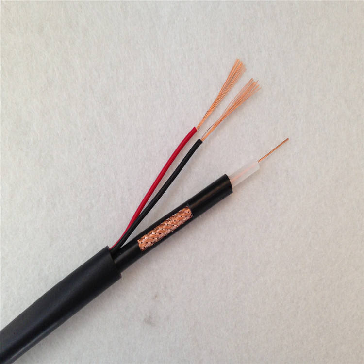 Cabo Coaxial Bipolar Flexvel CFTV RF4mm 80%Coverage + 2x26AWG Rolo C/100m with Power cable Ideal Para P/ CFTV