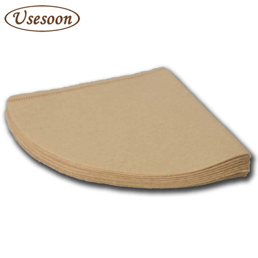 Usesoon Brand Hand drip coffee filter paper V60 coffee dripper filter paper V01 sizes Natural color