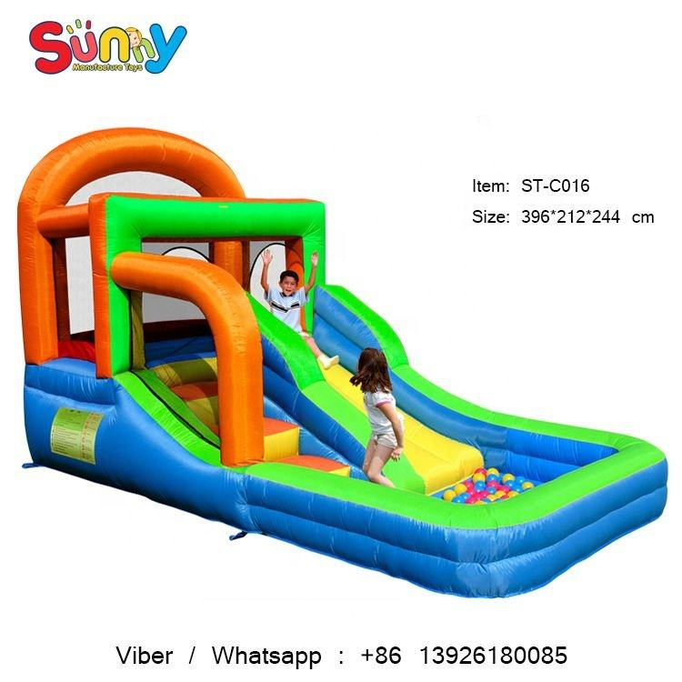 Running shoes bounce playground inflatable slip n slide