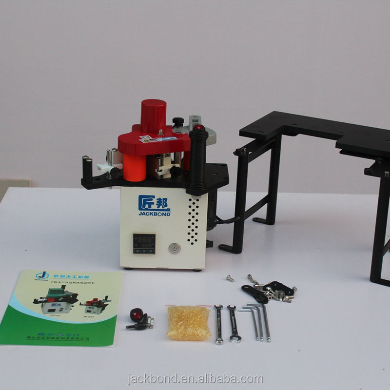 Acrylic mdf veneer portable semi-automatic PVC belt edge banding machine