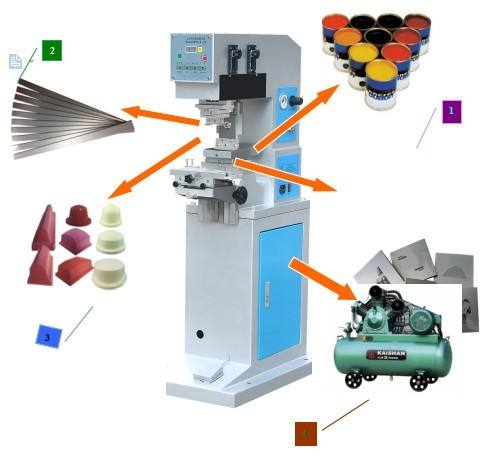 Easy operate TXD-125-100 Single color single head pad printing machine