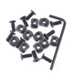 10 Pack M-LOK Screw and Nut Replacement Set for MLOK Handguard Rail Sections with Wrench