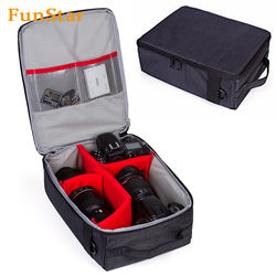 DSLR Camera Bag waterproof Insert Bag Case Storage Bag for Camera Customized with Sleeves