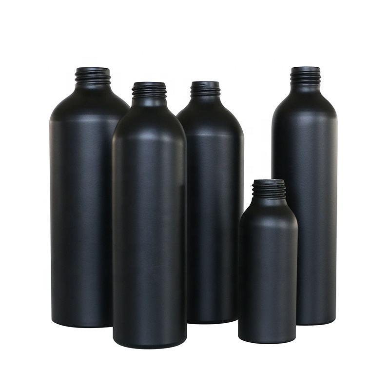 E-better Factory direct matte black 250ml 500ml 750ml aluminum bottle for cosmetic