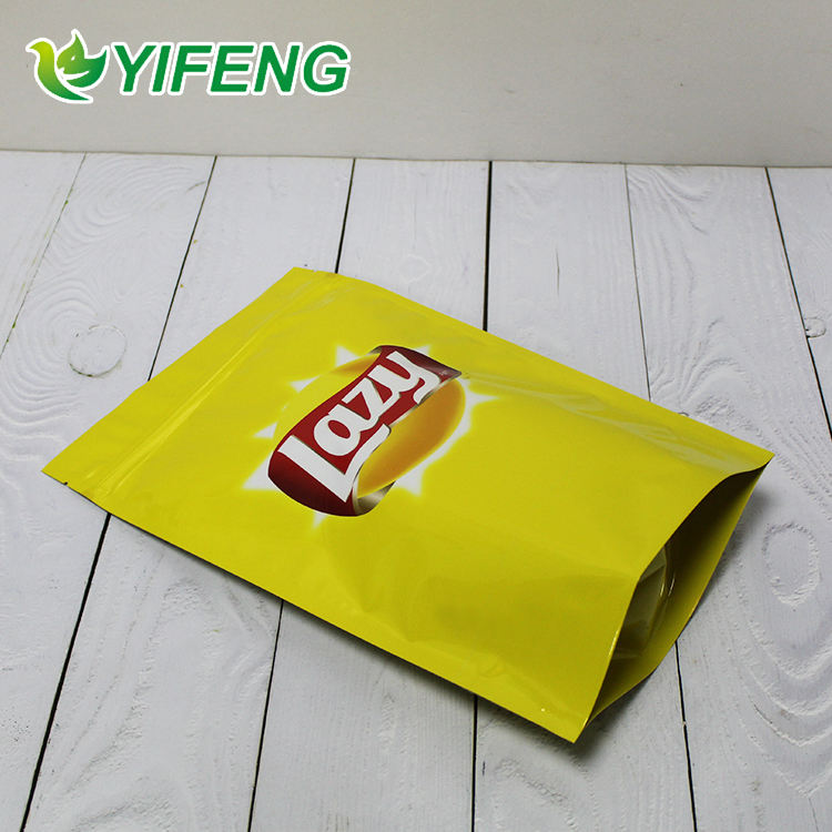 Custom Logo Printed Potato Chip Packaging For Cotton Candy Small Product Plastic Bag