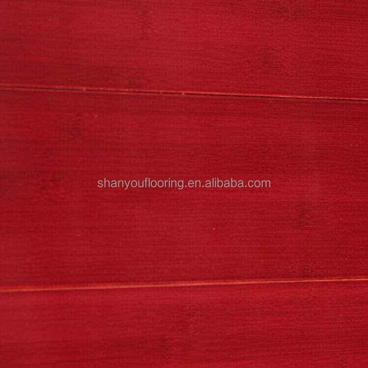 Stained/Colored Solid Bamboo flooring wealthy red /CE