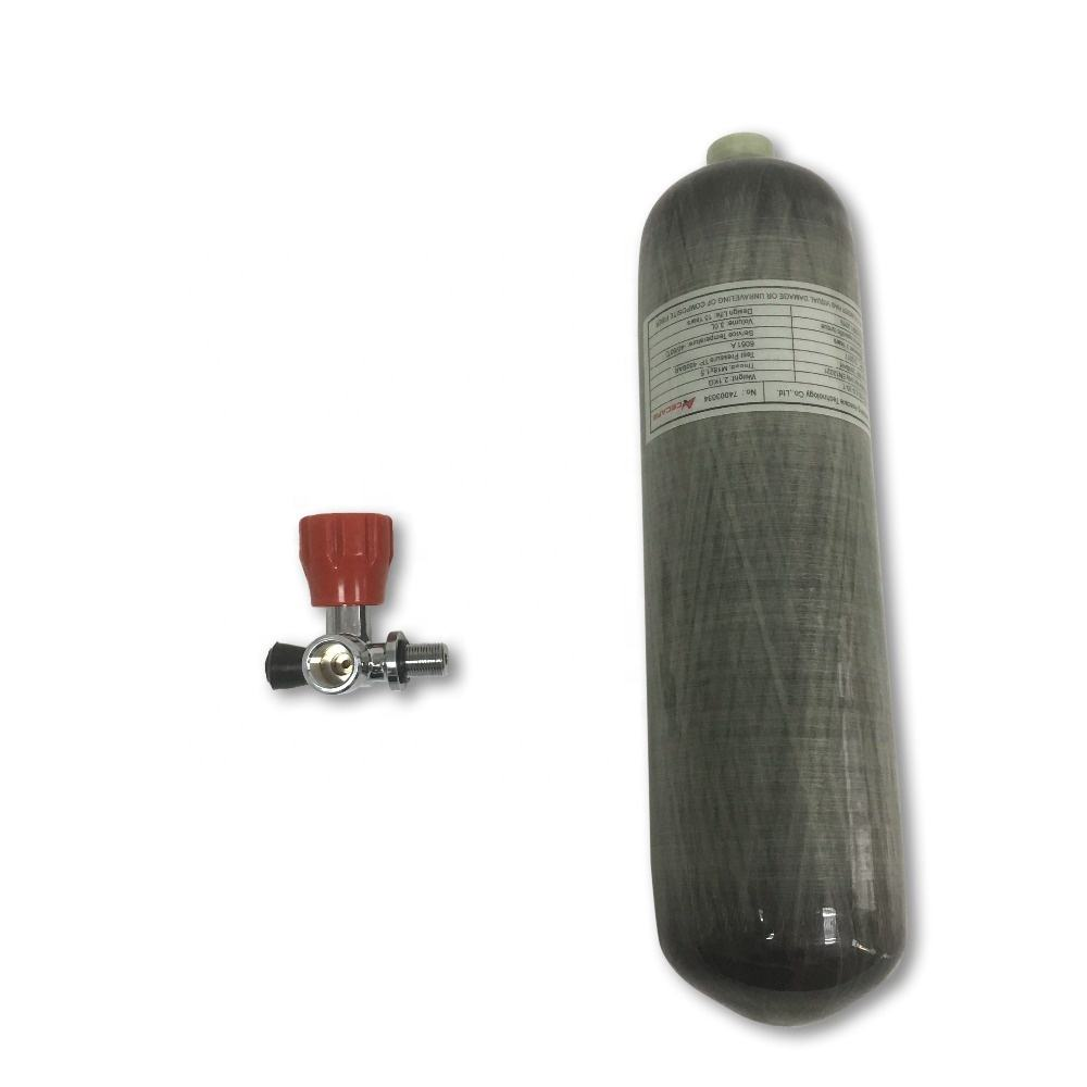 Acecare New 3L-30MPa 4500psi Carbon Fiber Empty Tank/ PCP Paintball Refill Cylinder With Valve
