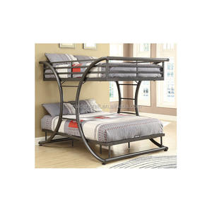 New fashion design metal gray bunk bed double size bed